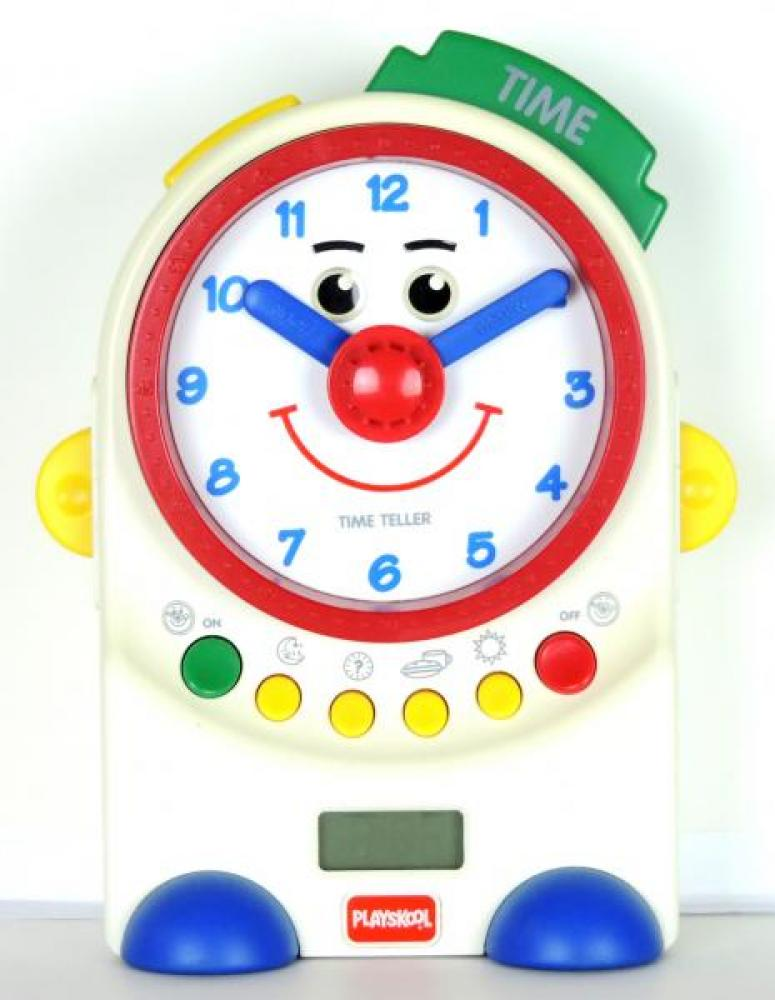 PLAYSKOOL Time Teller voice chip battery teaching clock