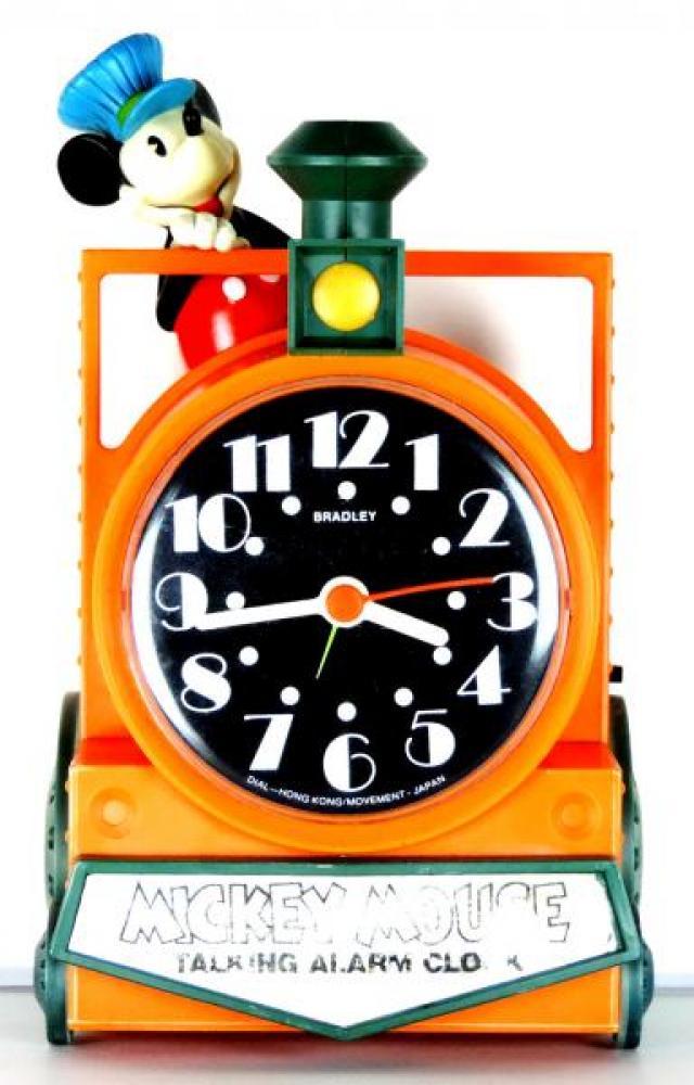 Bradley Mickey Mouse talking windup alarm clock