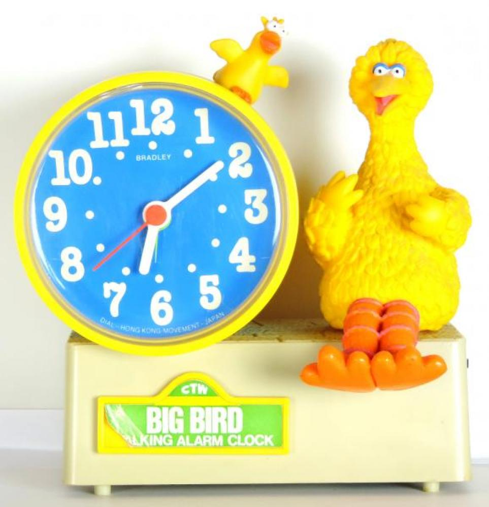 Sesame Street Big Bird talking alarm clock