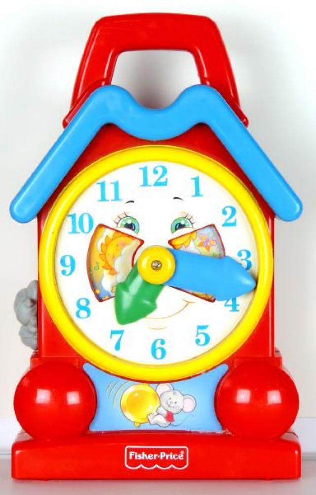 Fisher Price 1994 clock windup music box, hands turn