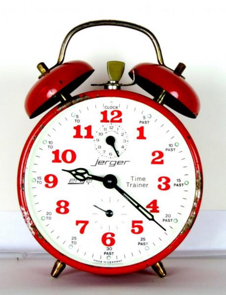 jerger Time Trainer teaching, windup functioning alarm clock