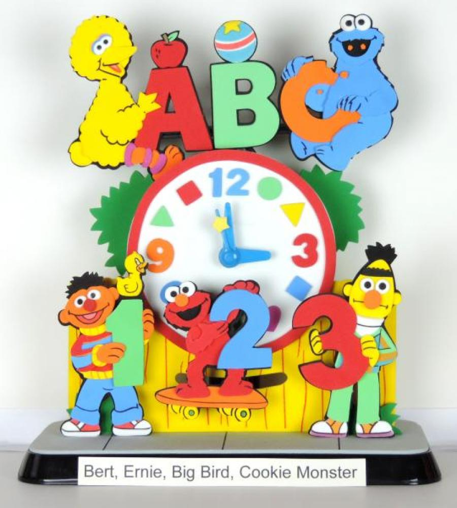 Sesame Street characters animated battery clock