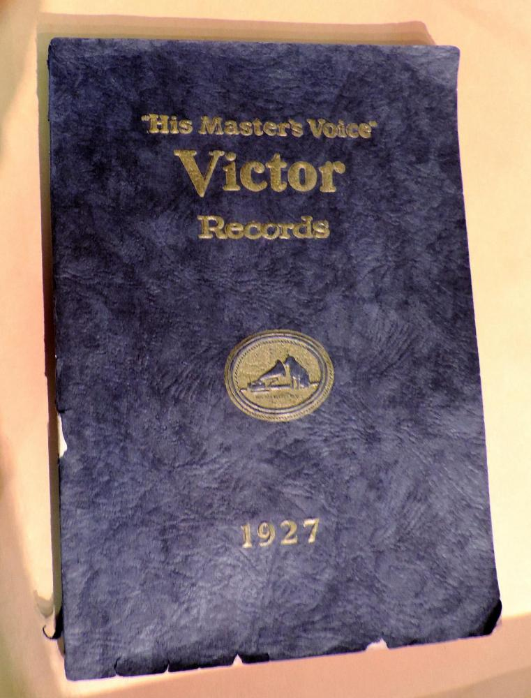 Our 1927 Canadian Victor catalogue of their available 78s records